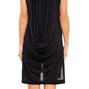 Helmut Lang Draped Back Sleeveless Mini Dress